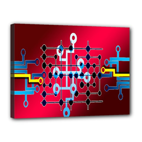 Board Circuits Trace Control Center Canvas 16  x 12