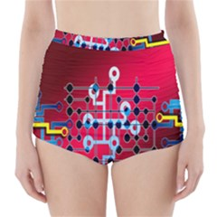 Board Circuits Trace Control Center High-Waisted Bikini Bottoms