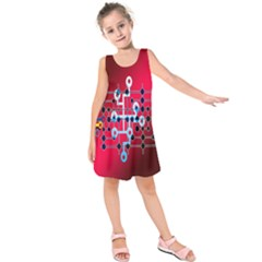 Board Circuits Trace Control Center Kids  Sleeveless Dress