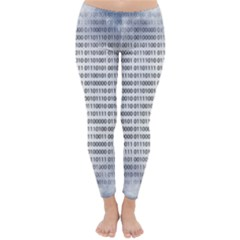 Binary Computer Technology Code Classic Winter Leggings