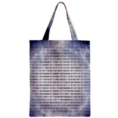 Binary Computer Technology Code Zipper Classic Tote Bag