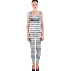 Binary Computer Technology Code OnePiece Catsuit