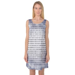 Binary Computer Technology Code Sleeveless Satin Nightdress