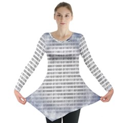 Binary Computer Technology Code Long Sleeve Tunic