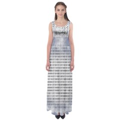 Binary Computer Technology Code Empire Waist Maxi Dress