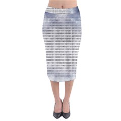 Binary Computer Technology Code Midi Pencil Skirt