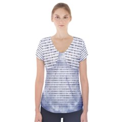 Binary Computer Technology Code Short Sleeve Front Detail Top