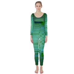 Board Conductors Circuits Long Sleeve Catsuit