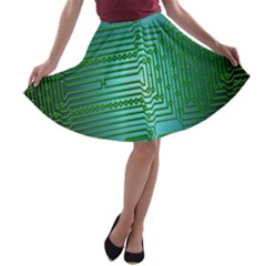 Board Conductors Circuits A-line Skater Skirt