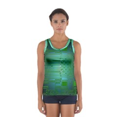 Board Conductors Circuits Women s Sport Tank Top