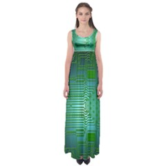 Board Conductors Circuits Empire Waist Maxi Dress