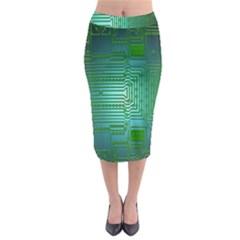 Board Conductors Circuits Midi Pencil Skirt
