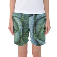 Bright Cabbage Color Dew Flora Women s Basketball Shorts