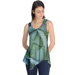 Bright Cabbage Color Dew Flora Sleeveless Tunic
