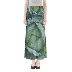 Bright Cabbage Color Dew Flora Maxi Skirts