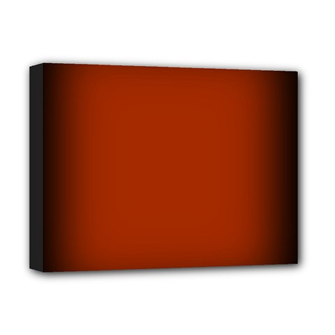 Brown Gradient Frame Deluxe Canvas 16  x 12