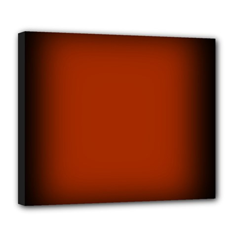 Brown Gradient Frame Deluxe Canvas 24  x 20