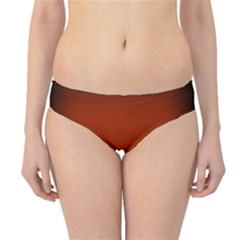 Brown Gradient Frame Hipster Bikini Bottoms