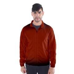 Brown Gradient Frame Wind Breaker (Men)