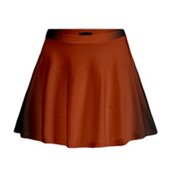 Brown Gradient Frame Mini Flare Skirt