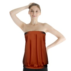 Brown Gradient Frame Strapless Top