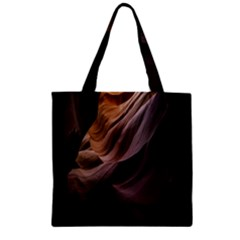 Canyon Desert Landscape Pattern Zipper Grocery Tote Bag
