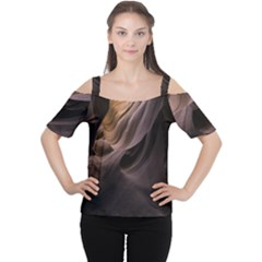 Canyon Desert Landscape Pattern Women s Cutout Shoulder Tee
