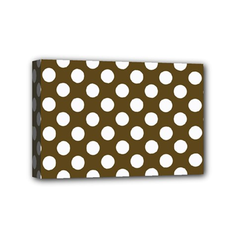 Brown Polkadot Background Mini Canvas 6  x 4