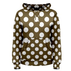 Brown Polkadot Background Women s Pullover Hoodie