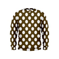 Brown Polkadot Background Kids  Sweatshirt