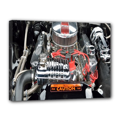 Car Engine Canvas 16  x 12