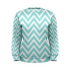 Chevrons Zigzags Pattern Blue Women s Sweatshirt