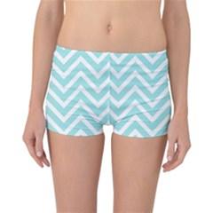 Chevrons Zigzags Pattern Blue Reversible Bikini Bottoms