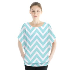 Chevrons Zigzags Pattern Blue Blouse