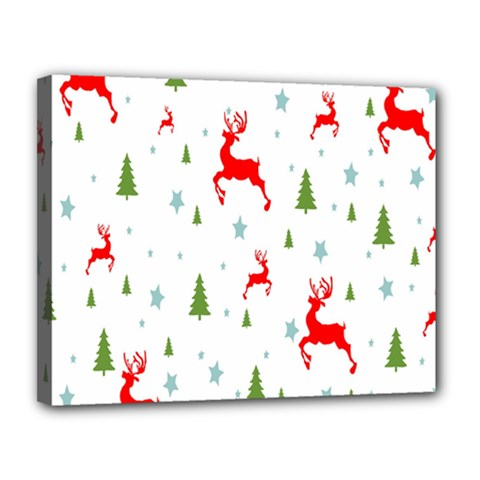 Christmas Pattern Canvas 14  x 11