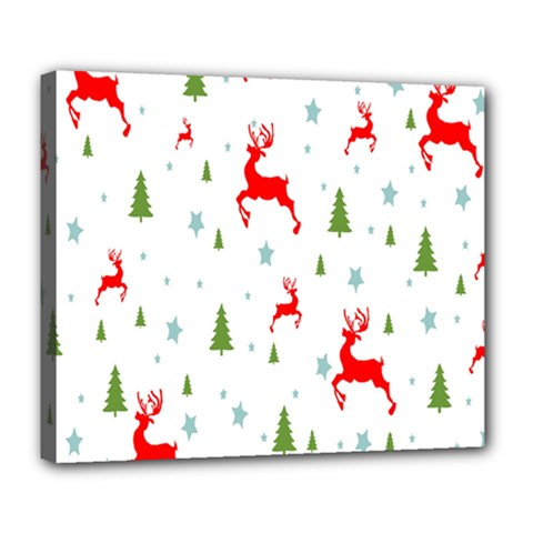 Christmas Pattern Deluxe Canvas 24  x 20