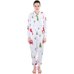 Christmas Pattern Hooded Jumpsuit (Ladies)