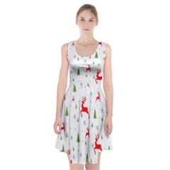 Christmas Pattern Racerback Midi Dress