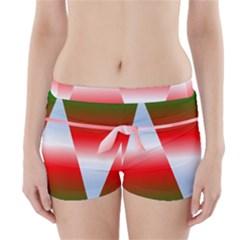 Christmas Pattern Boyleg Bikini Wrap Bottoms