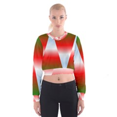Christmas Pattern Women s Cropped Sweatshirt