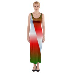 Christmas Pattern Fitted Maxi Dress