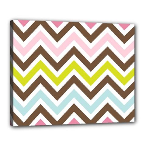 Chevrons Stripes Colors Background Canvas 20  x 16