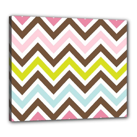 Chevrons Stripes Colors Background Canvas 24  x 20