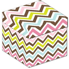Chevrons Stripes Colors Background Storage Stool 12