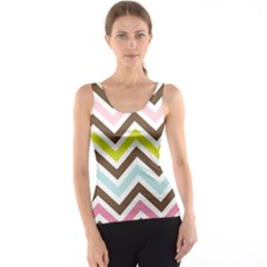 Chevrons Stripes Colors Background Tank Top