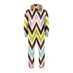 Chevrons Stripes Colors Background Hooded Jumpsuit (Kids)