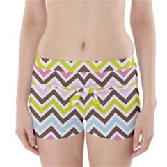 Chevrons Stripes Colors Background Boyleg Bikini Wrap Bottoms