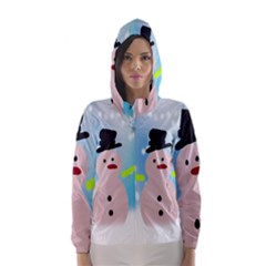 Christmas Snowman Hooded Wind Breaker (women)