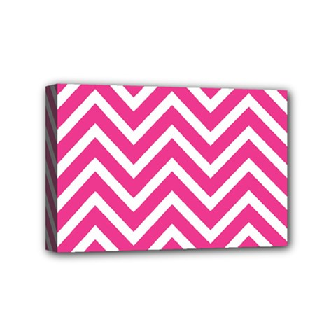 Chevrons Stripes Pink Background Mini Canvas 6  x 4