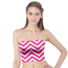 Chevrons Stripes Pink Background Tube Top